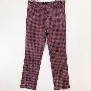 Zara TRF Geo Print Cigarette Pants